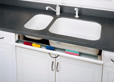 Kitchen Under Sink Front Tray Drawer Cabinet Tip Out Storage Organizer 16 inch