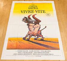 Affiche de cinéma : VIVRE VITE de CARLOS SAURA