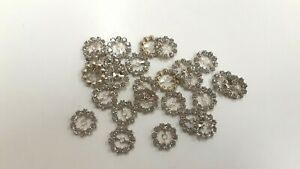 26 vintage swarovski rhinestone circles,with center hole,15mm crystal