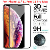 For iPhone 11 Pro Max/ XR X XS Max 3D Curved Tempered Glass Screen Protector-WI
