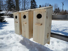 Wood Duck house,  Goldeneye Merganser Mandarin Nest Box, White Cedar (3pack)