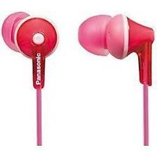 Panasonic RP-HJE125 Stéréo Dans Canal auditif BUD Ergofit casque 3 tailles rose nouveau
