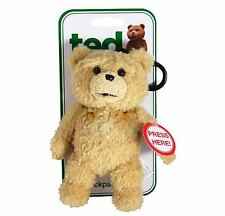 """Ted Movie 6"""" Back Pack Clip Plush With Sounds R-Rated Licensed In Stock"""