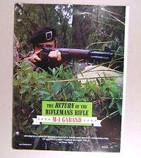 1982/11 SWSAT  - M1 GARLAND THE RETURN OF THE RIFLEMAN'S RIFLE - REPRINT***