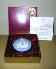 Wedgwood Jasperware Glass Charles and Diana Paperweight Boxed