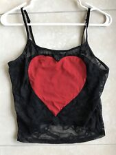 Lace Cami Top Black Sheer Sexy INTIMISSIMI Size Small MSRP $65 NWOT