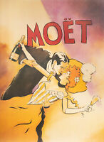 Original Poster - V. Mcindoe - Couple - Moet & Chandon - Champagne - 1986