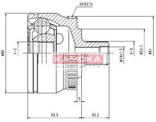 Gelenksatz Antriebswelle - Kamoka 6762