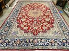 """8 X 12  RED VINTAGE RUG WOOL HAND KNOTTED handmade antique oriental 7'9""""x11'8"""""""