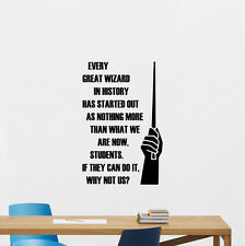 Wizard School Quote Wall Decal Harry Potter Vinyl Sticker College Decor 238crt