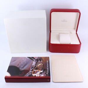 GENUINE OMEGA WATCH BOX RED & SILVER SEAMASTER SPEEDMASTER