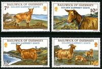 GUERNSEY 1980 GUERNSEY GOATS SET OF ALL 4 COMMEMORATIVE STAMPS MNH