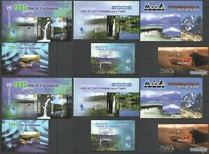 A0035 GRENADA YEAR OF FRESHWATER MOUNTAINS MARINE LIFE FAUNA !!! 2*(3KB+3BL) MNH