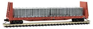 Micro-Trains MTL N-Scale 61ft Bulkhead Flat/Load Illinois Central Gulf #978688