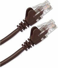 50cm Cat5 RJ45 Red Ethernet 10/100 cable de parche LAN Pequeño Marrón web de banda ancha
