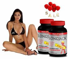 Mens Health Supplements - LONGJACK UP YOUR SIZE - Naturally Huge 2 Bottles