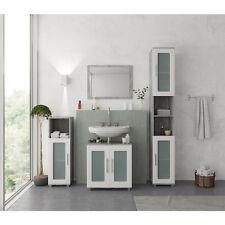 VICCO Badmöbel Set RAYK Weiß Grau - Spiegel Waschtisch Unterschrank Badschrank