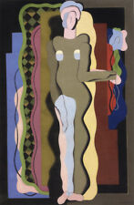 Nude with a Flower  by Georges Valmier  Giclee Canvas Print Repro