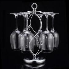 6 Wine Glasses Rack Hanger Cup Holder Home Bar Goblet Hanging Stand Glassware