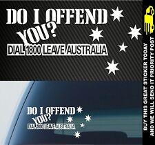 Aussie Straya Australia Patriot Funny 4x4 Car Ute Sticker