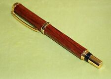Jr Gent Fountain  Pen 24 Kt Gold Plated, She Oak, Hand made