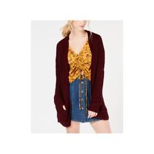 HookedUp Shapewear Womens Long Knit Cardigan Vino Size Medium