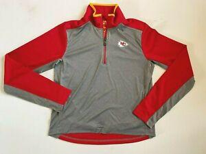 Kansas City Chiefs Youth XL 1/4 Zip Pullover Shirt NFL Football