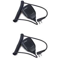 2X 2 Pin PTT Speaker microphone For BaoFeng UV-5R UV-5RE DM-5R Walkie Talkie MIC