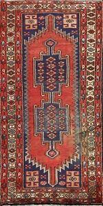 3x5 Vintage Tribal Hamedan Area Rug Hand-knotted Geometric Oriental Wool Carpet