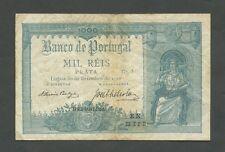 PORTUGAL - 1000 reis  1910  P106  VF  ( World Paper Money )