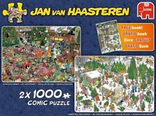 JUMBO JIGSAW PUZZLE CHRISTMAS GIFTS SET JAN VAN HAASTEREN 2 X 1000 PCS #19061