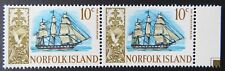 1967-1968 Norfolk Island Stamps - Ships - Double 10c - Tab MNH