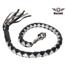 "3"" Fatty Black & Silver Get Back Whip for Motorcycles - free shipping"
