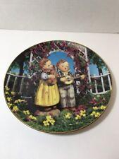 """Danbury Mint's Hummel Plate - Little Companions """" Little Musicians"""" Collectors"""