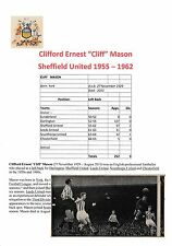 DES THOMPSON/CLIFF MASON SHEFFIELD UNITED RARE ORIGINAL SIGNED MAGAZINE PICTURE