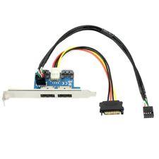 Dual Port Sata To 5V 12V Power Over Esata USB Port Adapter Convert Expansio Z1C2