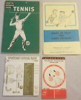 Vintage 60's Lot Tennis Sports Advertising Table Tennis Lawn Croquet Starcraft