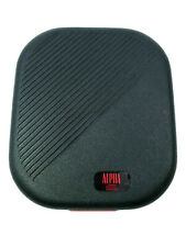 Alpha Hard Case Portable Storage Disc Holder CD DVD 12 Discs Black Hardcase Logo