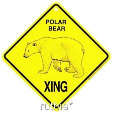 Polar Bear Crossing Xing Sign New Made in USA