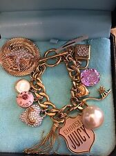 Juicy Couture Vintage Charm Bracelet With Eleven Charms Very Rare