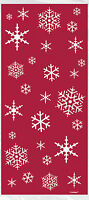 20 x red Christmas Snowflakes Cello treat loot Party Bags favour bags FREE P&P
