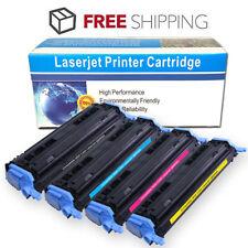 4-Pk Toner Set for HP Color LaserJet 1600 2605n CM1015 CM1017 MFP Q6000A 124A