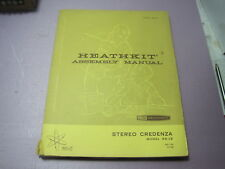 New listing Uncommon Heathkit Model Ad-19 Stereo Credenza Assembly Manual