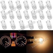 20x T10 194 White Amber Halogen Bulbs Instrument Cer Dash Light Glove Box