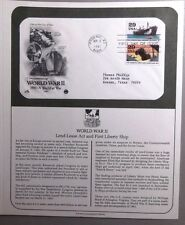 FDC Stamp World War II Lend-Lease Act First Liberty Ship 3Sep1991 Phoenix AZ #21