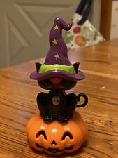 Solar Powered Dancing Toy Bobblehead New 2020-  Halloween Black Cat Witch's Hat