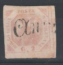 FRANCOBOLLI 1858 NAPOLI 2 GR. ROSA BRUNASTRO D/4502