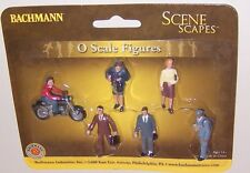 New ! Bachmann  Scene Scapes  O Scale City People with Motorcycle