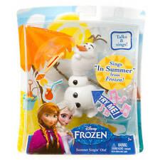 """Disney Frozen Singing Olaf Figure Snowman Talks & Sings """"In Summer"""" Olaf Toy Nwt"""