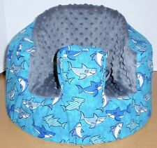 New Bumbo Floor Seat Cover • Smiling Sharks • Safety Strap Ready